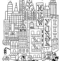 Voyage en coloriage 3 : les villes