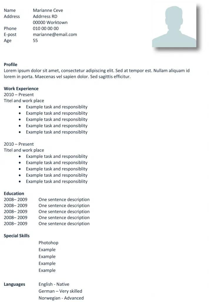 Cv Example  Cv Examples, Cv Examples Medical, Cv Examples - medical cv template