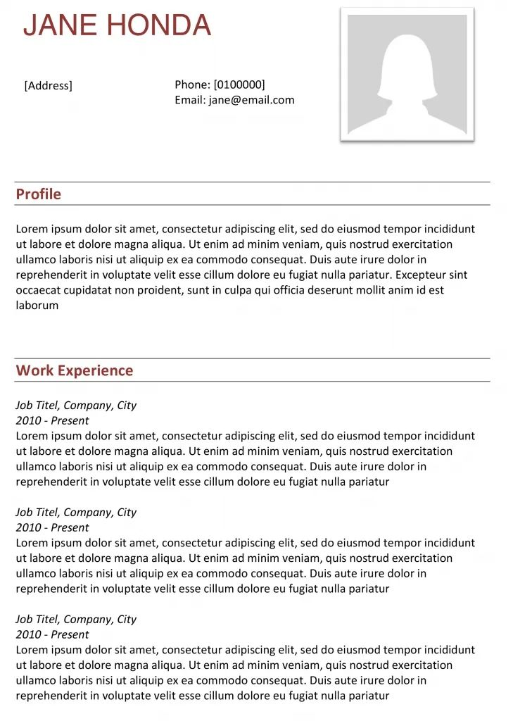 truly free resume templates