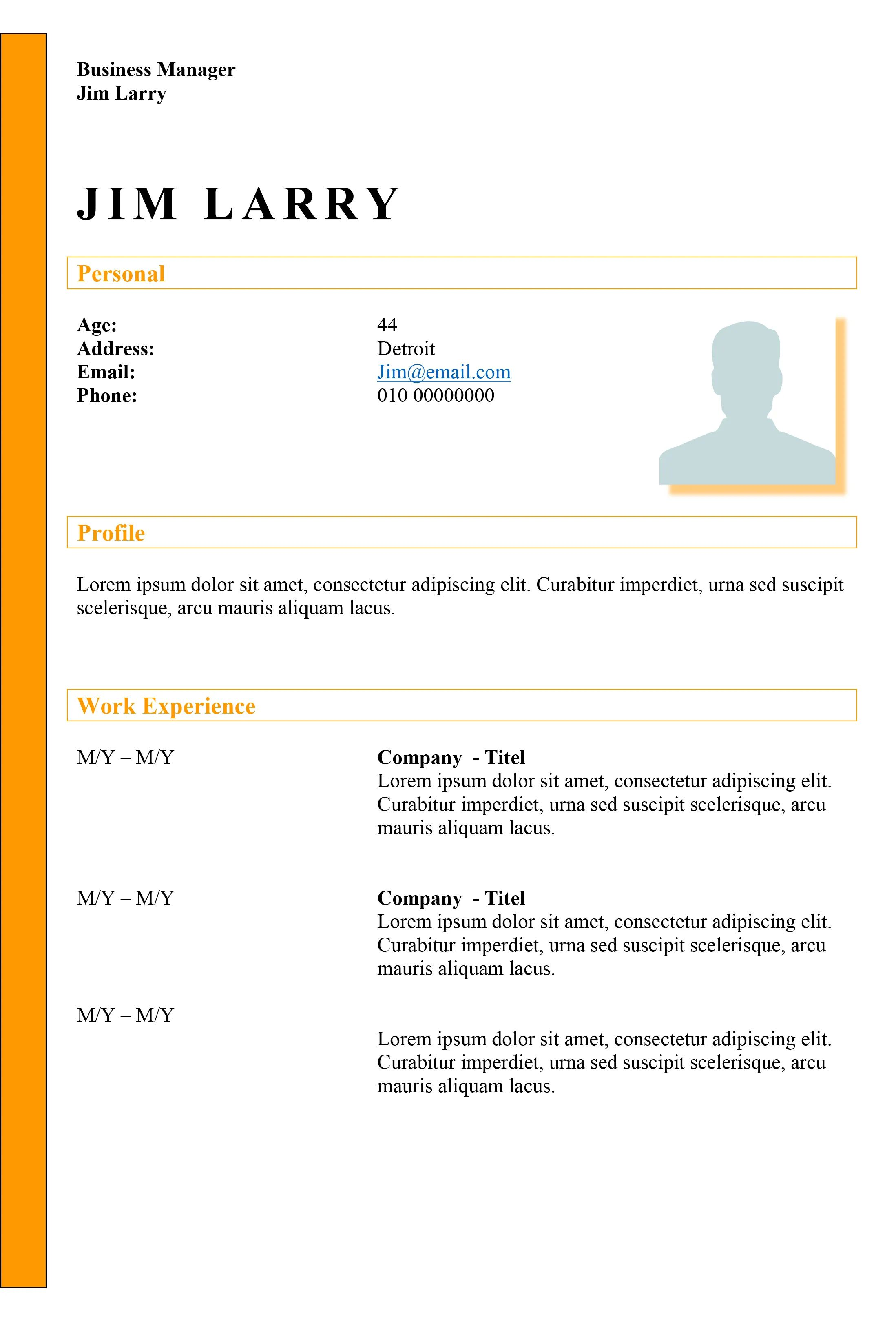 colourful cv templates