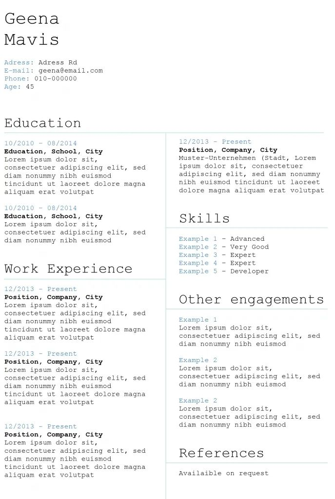top resume templates word