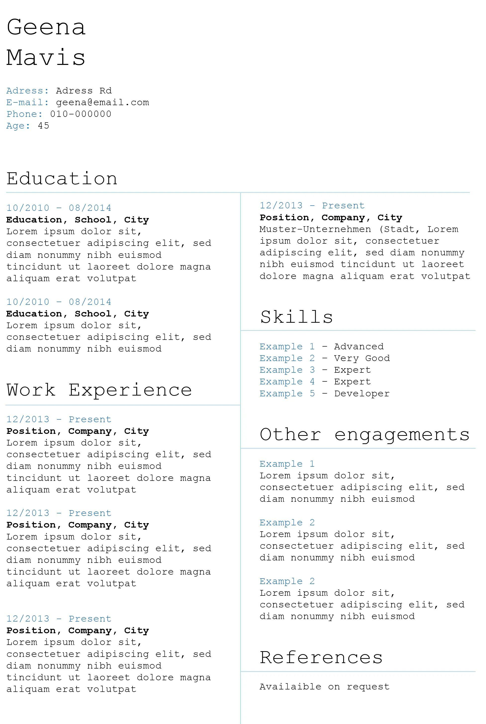 creative cv templates free