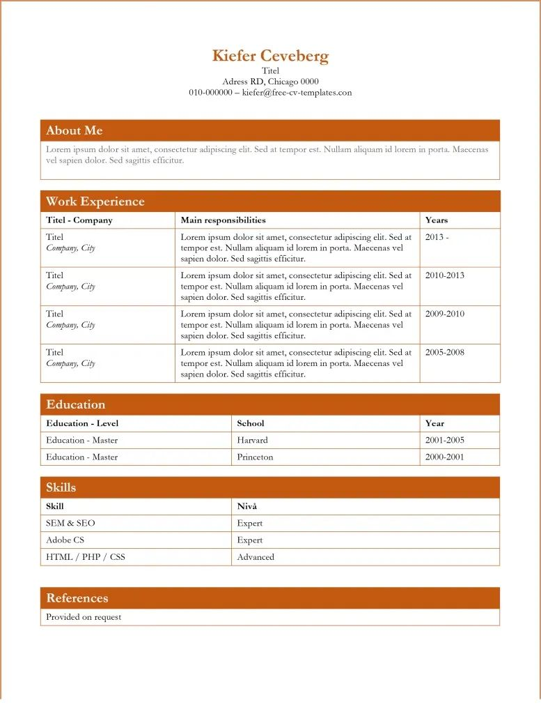 download resumes templates free microsoft word