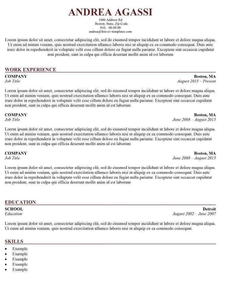 resume or cv which to use