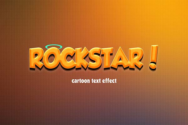 Cartoon Text Effect PSD Free Text Effects FreeDesigns