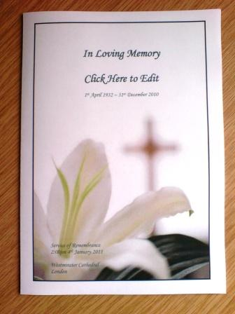 Free Funeral Service Memorial Template - order of service template free