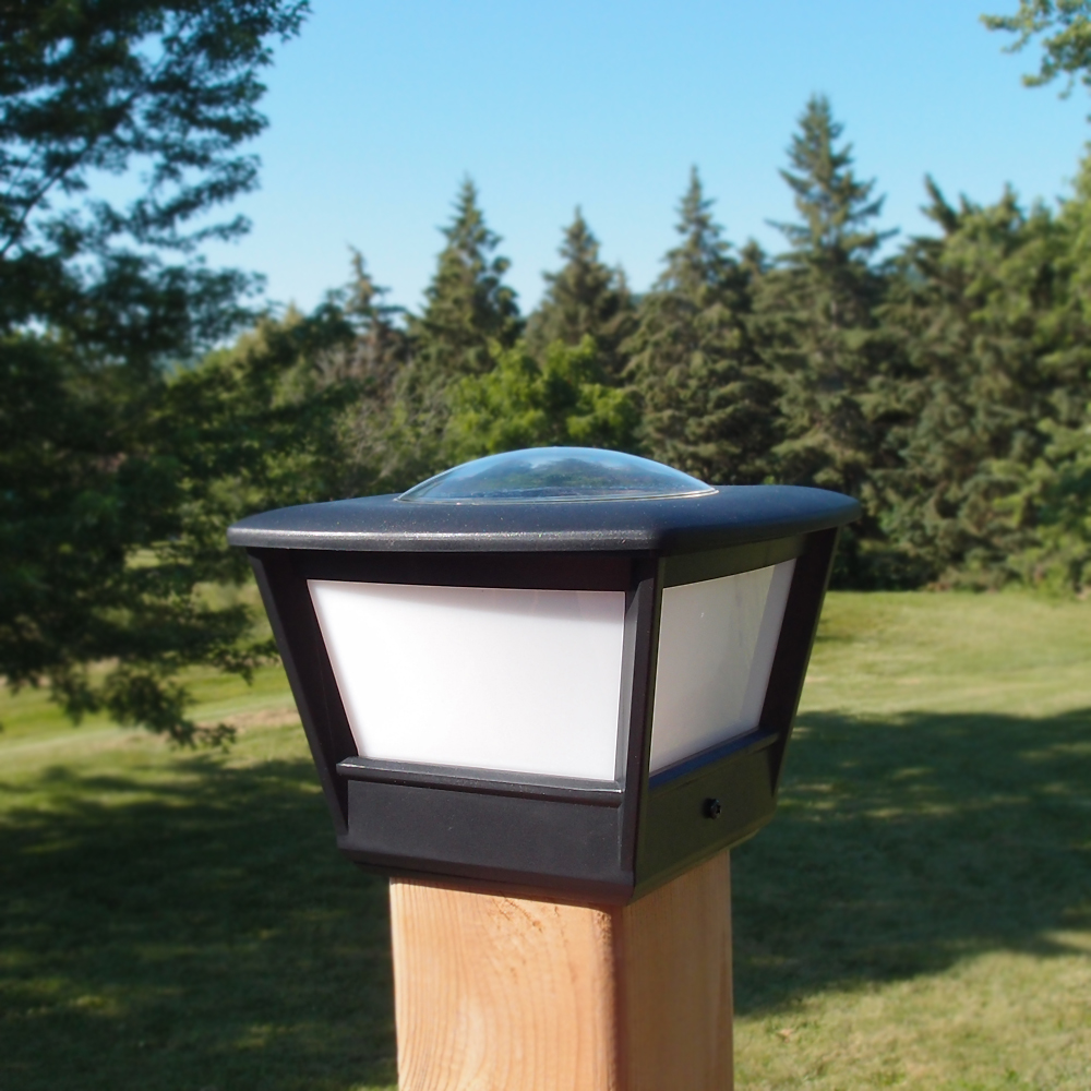Solar Light 4x4 Fence Post Solar Light By Free-light. 4x4 Post Cap