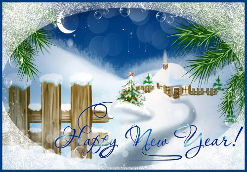 Grande Photo A Happy New Year Card New Year Greeting Cards Free Printable Greeting Cards New Year Cards Download New Year Cards