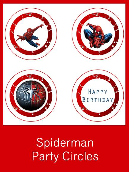 Free Printable Spider-man Party Circles and Place Name Cards \u2022 Free