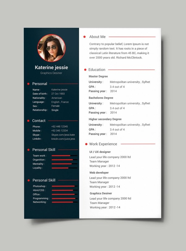 54+ PREMIUM  FREE PSD CV/RESUMES TO FIND A GOOD JOB! Free PSD