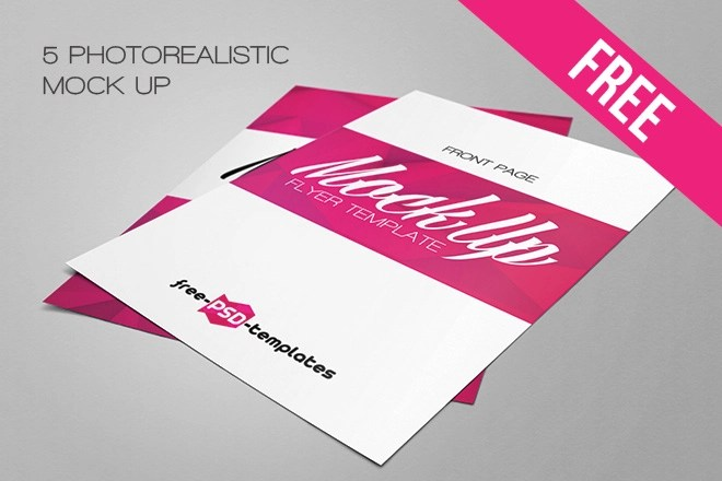 Free Flyer Mock-up in PSD Free PSD Templates