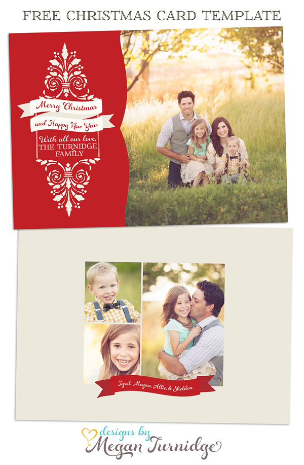 30+ Christmas Free PSD Holiday Card templates for design and