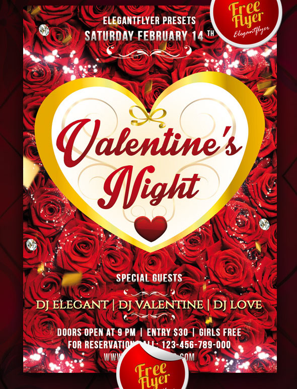 25+ PSD Flyers + Elements for St Valentine\u0027s Day! Free PSD Templates - love templates free