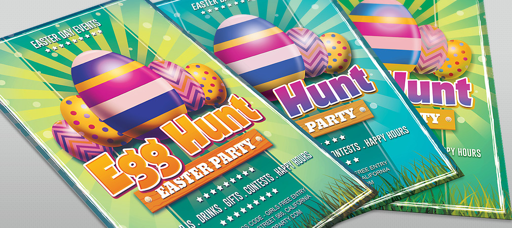 25 Fresh Spring PSD Flyer Templates! Free PSD Templates - easter flyer template