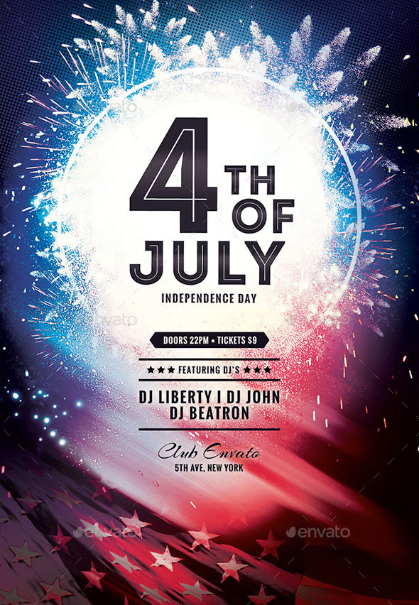 55+PREMIUM  FREE 4th OF JULY ELEMENTS AND READY-MADE TEMPLATES FOR