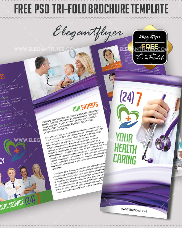 45+ Free PSD Tri-Fold  Bi-Fold Brochures Templates for promoting