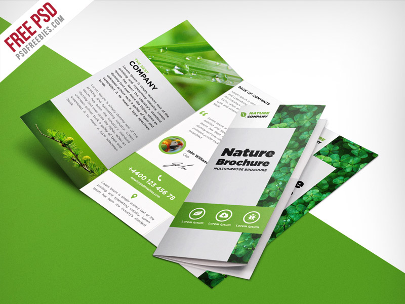 59+ Free PSD Tri-Fold  Bi-Fold Brochures Templates for promoting - Tri Fold Brochures Free