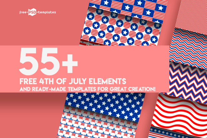 55+PREMIUM  FREE 4th OF JULY ELEMENTS AND READY-MADE TEMPLATES FOR - 4th of july template