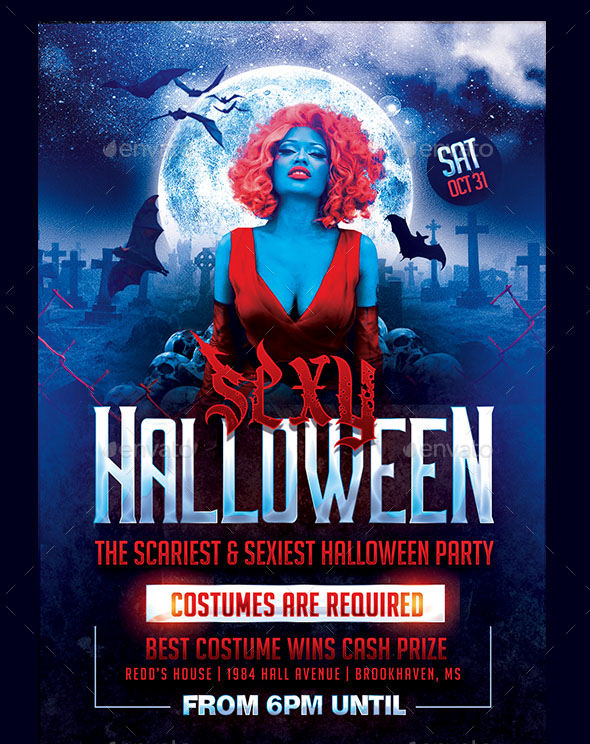 45+PREMIUM  FREE SCARY AND HORROR PSD HALLOWEEN PARTY FLYER