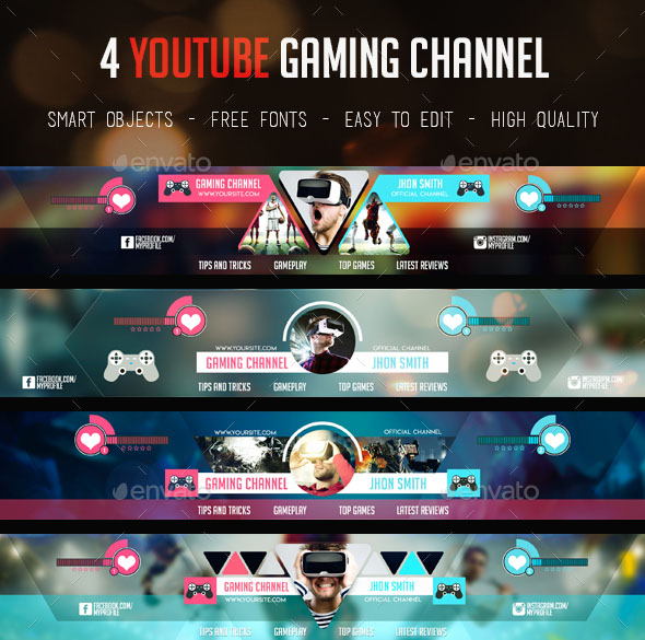 20+ FREE PSD YouTube Channel Banners for the best creative promoters - channel banner template