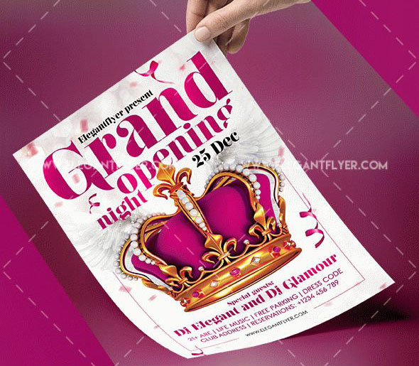 30+ FREE PSD Party  Night Club Flyer templates for inviting guests - Grand Opening Flyer