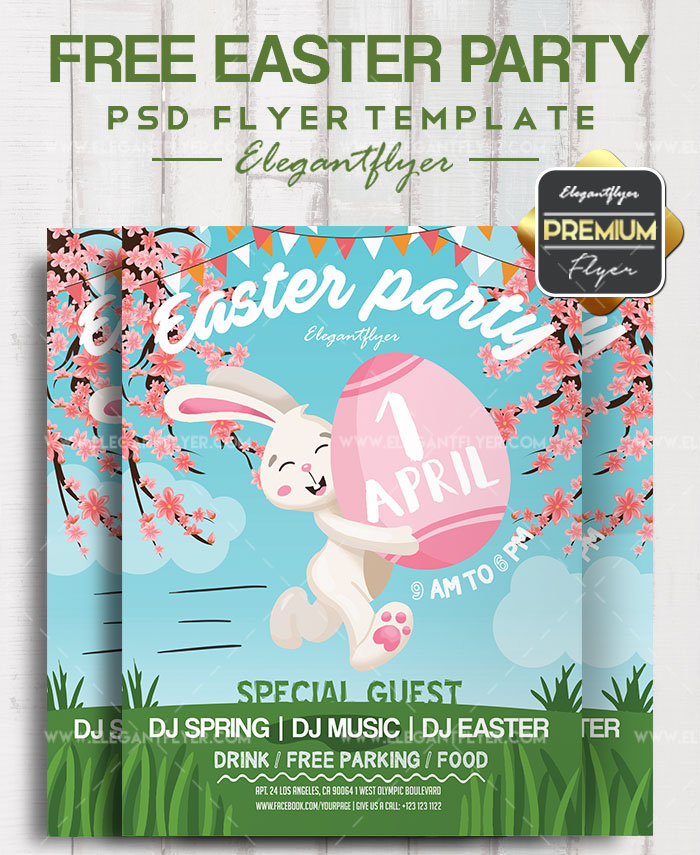 40+PREMIUM  FREE EASTER PARTY FLYER TEMPLATES IN PSD FOR HOLIDAYS
