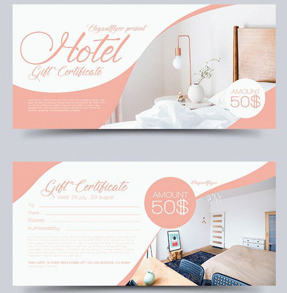 51+ Premium  Free PSD Professional Gift Certificates Templates for