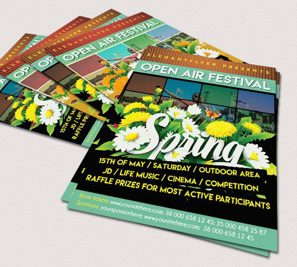 45+PREMIUM  FREE PSD SPRING FLYER TEMPLATES FOR THE BEST NIGHT CLUB - spring flyer template