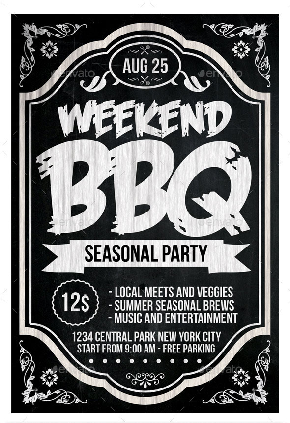 20 Free PSD Barbeque Flyer Templates for the Best Events! Free PSD