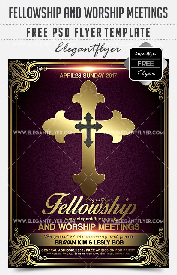 20 Free PSD Church Flyer Templates in PSD for Special Events! Free