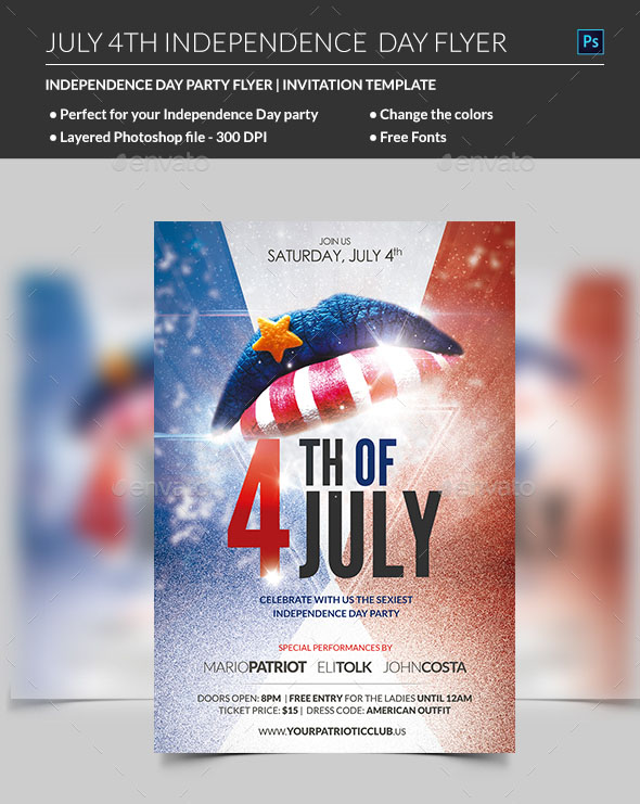 40+PREMIUM  FREE PSD FLYER TEMPLATES FOR AMERICAN HOLIDAYS BY
