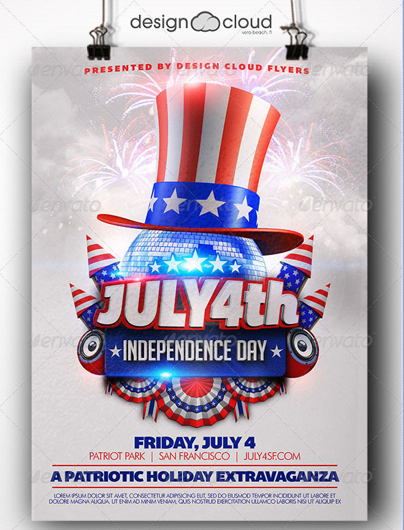 20 Free PSD Flyer Templates for American Holidays by Professional - independence day flyer