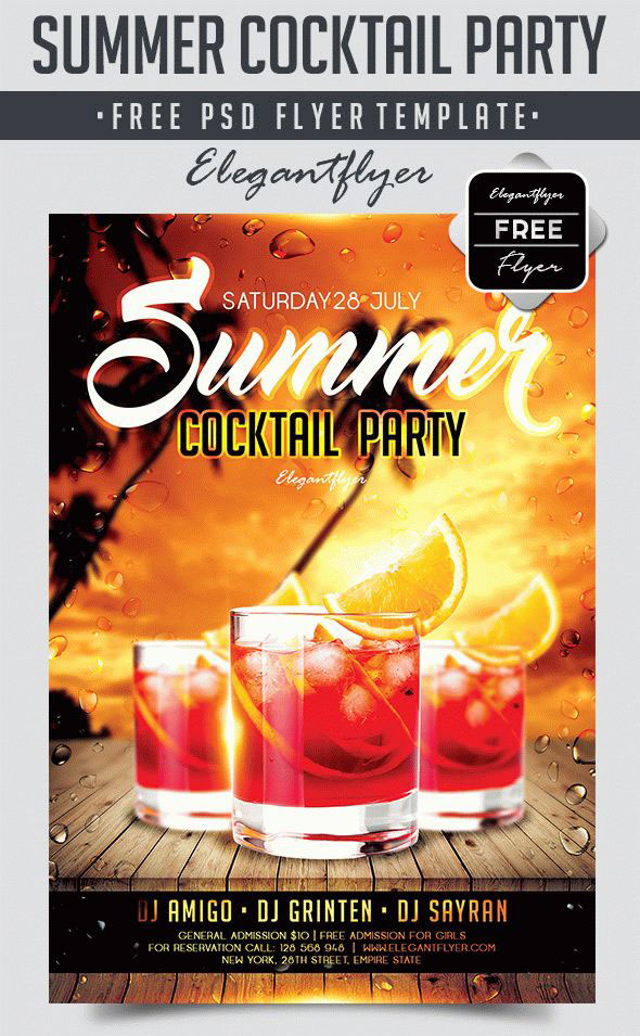 30 Premium  Free PSD Summer Party Flyer Templates for Awesome - party flyer