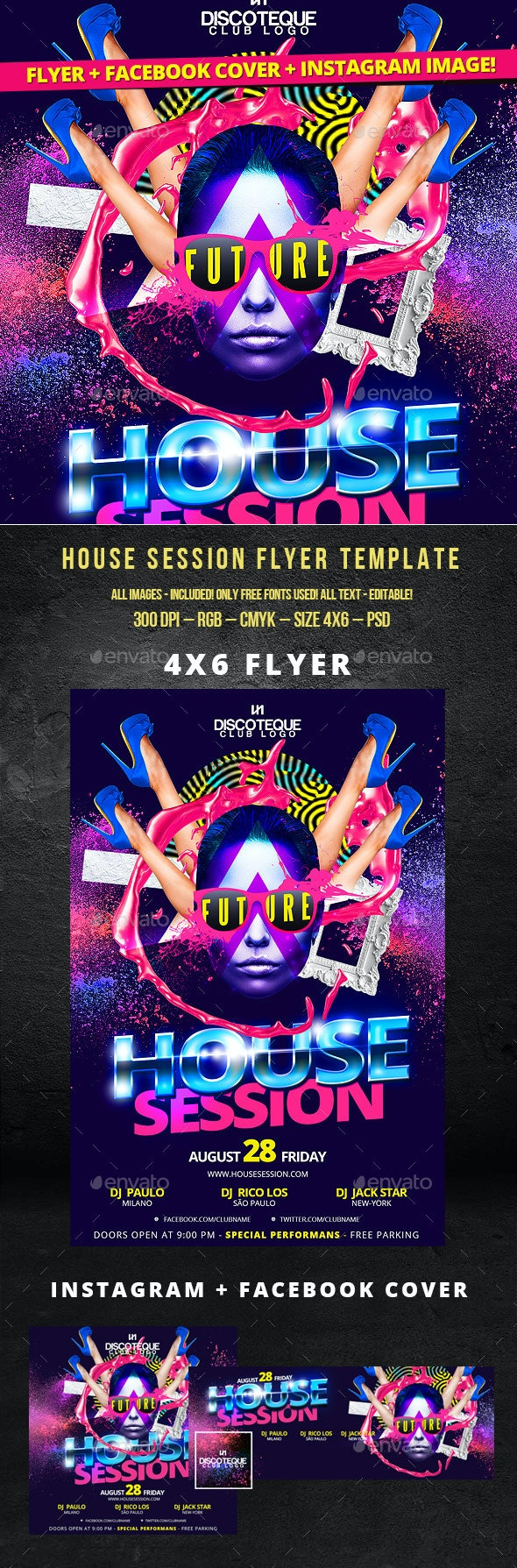 30 Free Nightclub Flyer Templates for Hot Parties Promotion Free