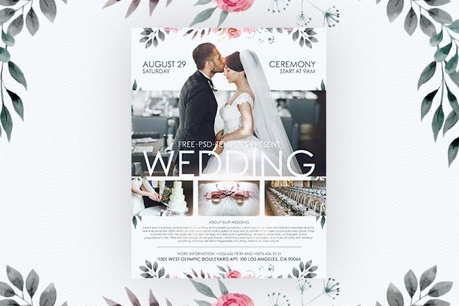 Free Wedding Flyer in PSD Free PSD Templates