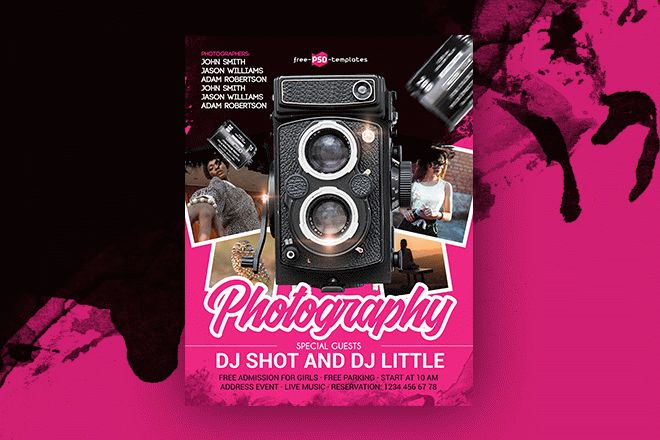 Free Photography Flyer in PSD Free PSD Templates