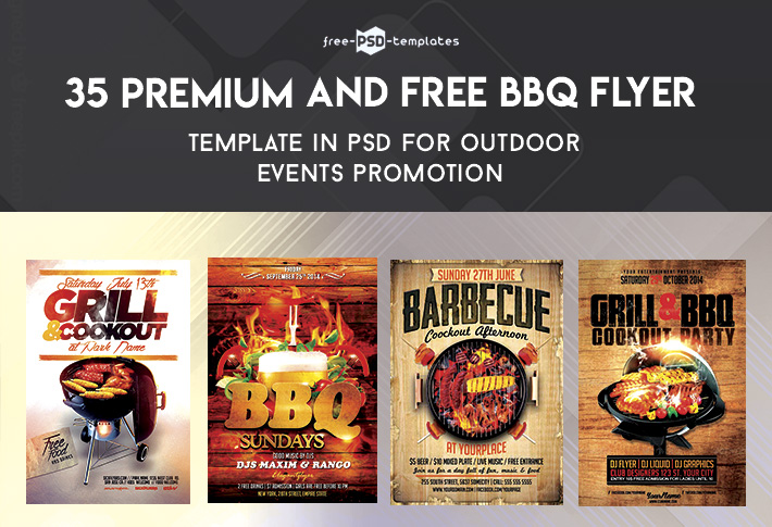 35 Premium  Free BBQ Flyer Templates in PSD for Outdoor Events