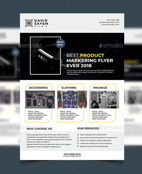 40 Premium and Free Marketing Flyer PSD Templates for Attracting New