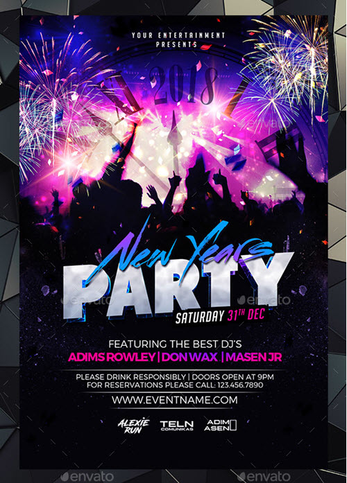 45+ Premium and Free New Year\u0027s Eve Flyer PSD Templates for Upcoming