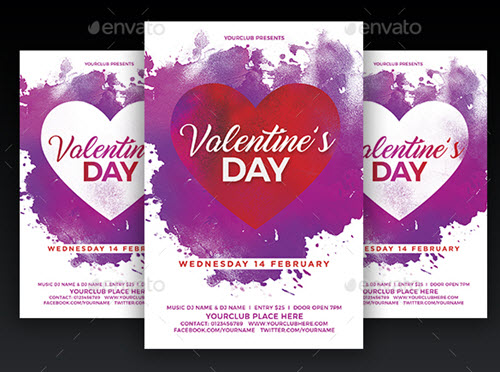 40+ Premium  Free Valentine\u0027s Day PSD Templates for Awesome Design