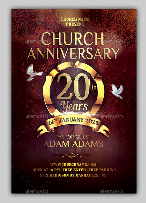 35+ Premium  Free Church Flyer Templates in PSD Free PSD Templates