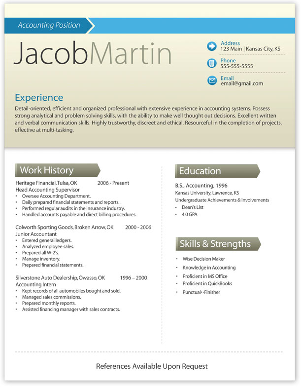 word resume template get noticed - Resumes That Get Noticed