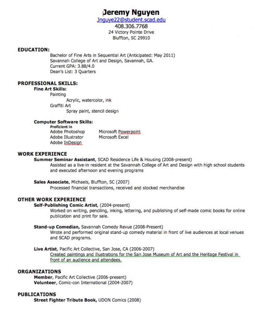 Sample Of Resume For Job Application Resume Application For Job ...