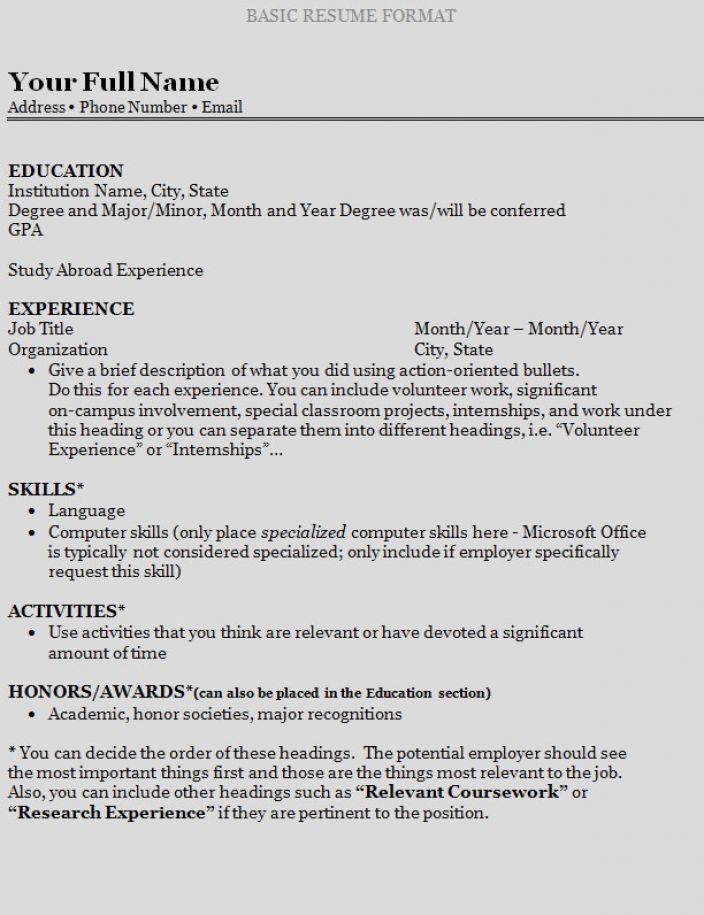 How To Write A Resume Free How To Write A Resume For A Highschool Student High Schoolresume .