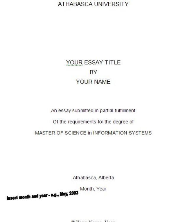 how to write a title page for an essay