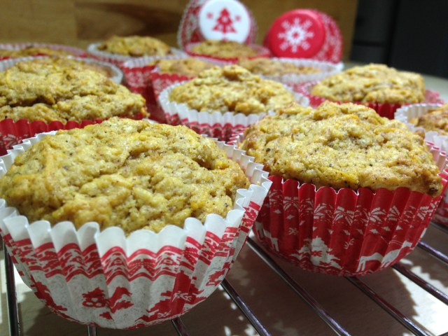 ginger & maple muffins (with carrot but shhhhhh don't tell!)