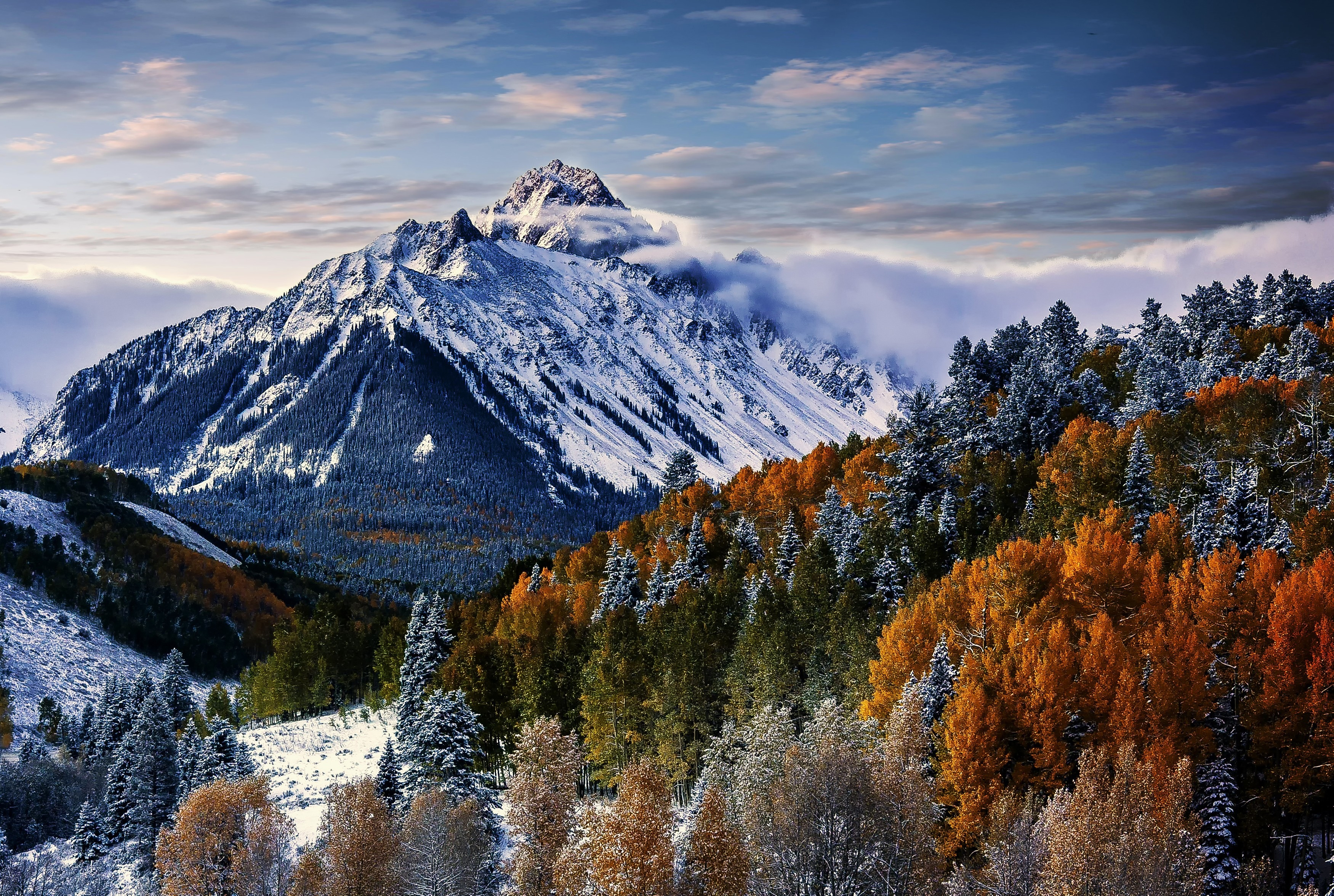 Iphone 4s Galaxy Wallpaper Snow Mountain View Hd Wallpaper