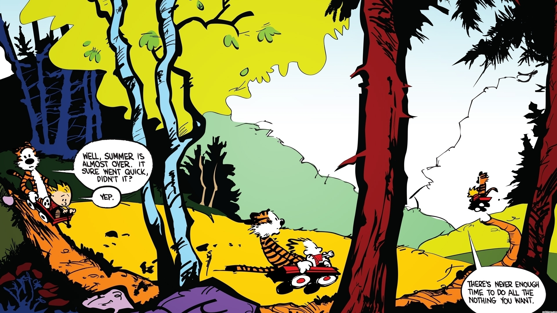 Calvin And Hobbes Fall Wallpaper Page 3 Of Background Wallpapers Photos And Desktop