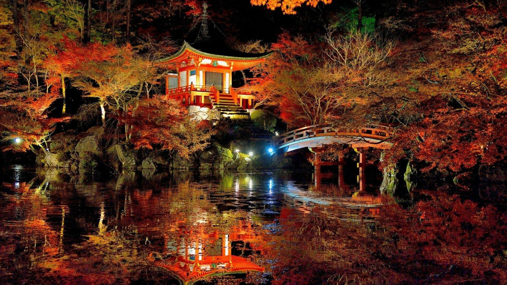 Fall Leaves Hd Wallpapers 1080p Lovely Japanese Garden Hd Wallpaper