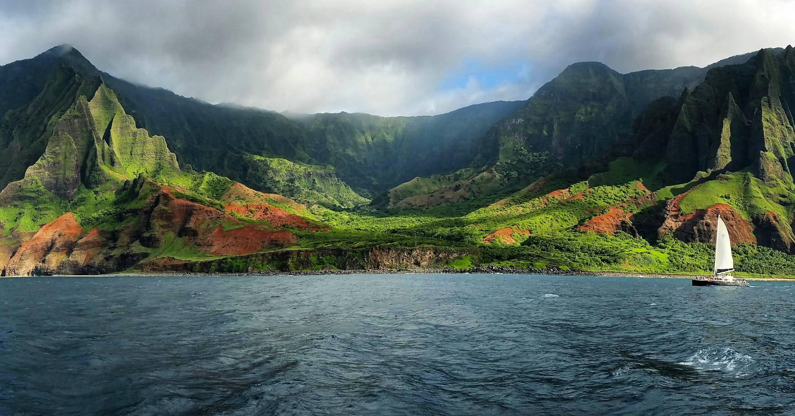 Lg Optimus Wallpaper Hd Napali Coast Kauai 14645 Hd Wallpaper
